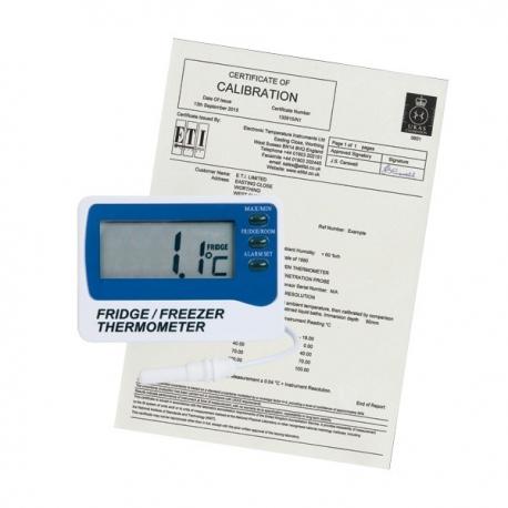 Thermomètre avec certificat de calibration UKAS