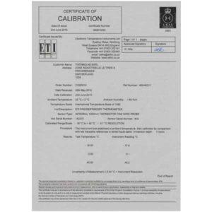 Certificat calibration 3 points UKAS
