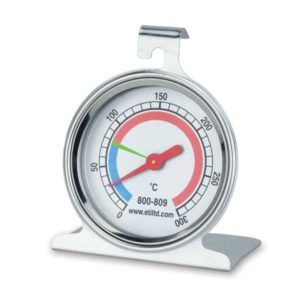 thermomètre four rond